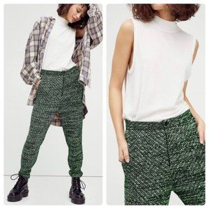 FREE PEOPLE Cozy Knit Trouser high rise green New